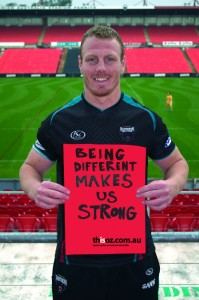 """Are we as supportive of LGBT players in sports as we could be?  (Source: """"Luke Lewis, Penrith Panther and NSW Blues"""" by Acon Online on Flickr. Some rights reserved.)"""