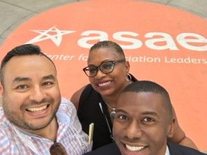 With association colleagues at the American Society of Association Executives annual meeting in Salt Lake City, 2016.